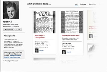 Profile page on The Jackson Sun Archive